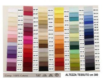 POPELINE 100% Cotone Colorato Lavabile