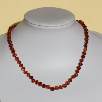 COLLANA AMBRA ADULTI ROUNDED COGNAC