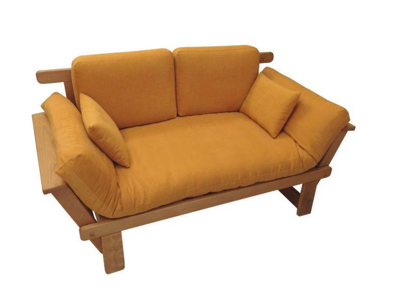 Emejing divano letto in legno ideas for Divano letto futon